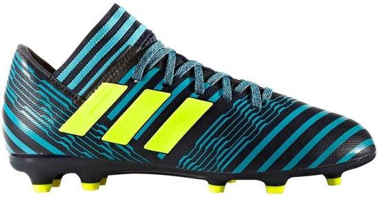 low priced 315db 5a2e5 adidas - NEMEZIZ 17.3 FG Junior - Voetbalschoenen - Kinderen -  BlauwZwartGeel