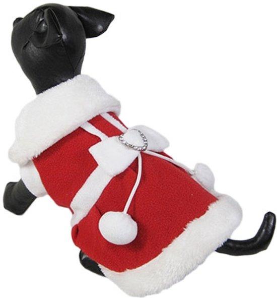 Fleece kostuum voor de kerst voor het vrouwtje - XL (rug lengte 38 cm, borst omvang 50 cm, nek omvang 38 cm )