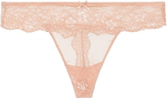 LingaDore 1400T DAILY LACE String - Maat M- Blauw