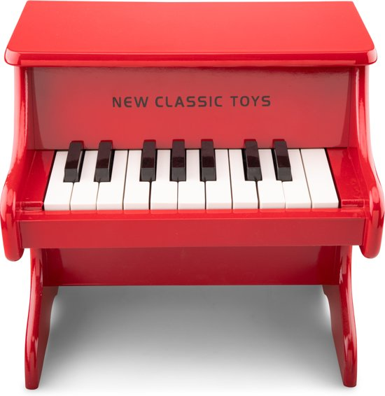 Mooie Houten Piano.New Classic Toys Houten Piano 18 Toetsen Rood