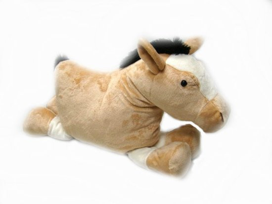 Bol paard vorm kussen thema dieren cadeaus merkloos