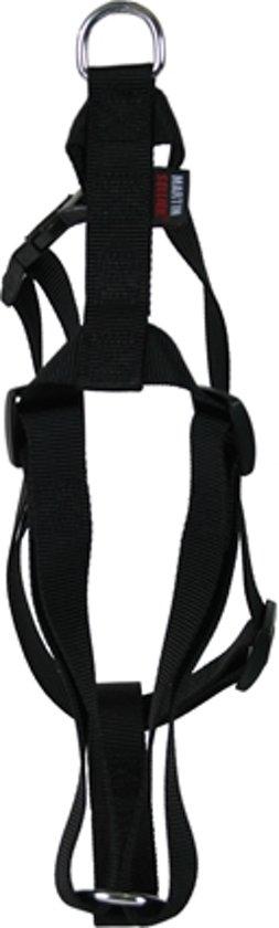 Martin sellier tuig voor hond basic nylon  zwart 16 mmx35-50 cm