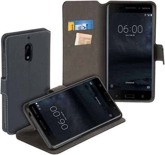 Porte-monnaie Noir Style Livre Pour Nokia 1 C4ZfBEjIfN