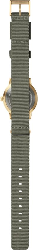 Tube watch T32 brass / grey nato strap