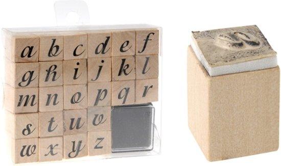 Mooie Houten Stempels.Houten Stempelset Alfabet Stempels Letters