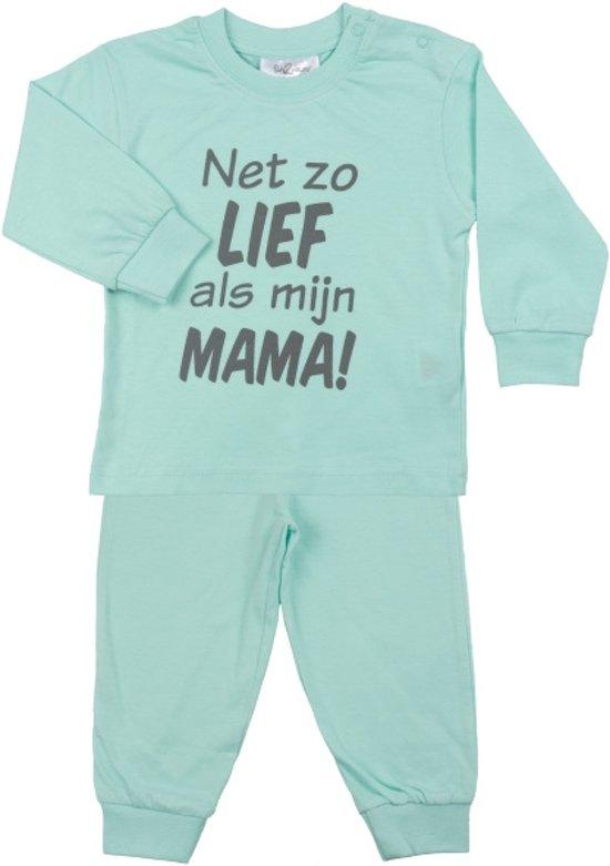 Fun2Wear Zo lief als mama Pyjama Mint maat 68