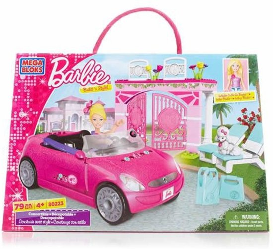 mega bloks barbie auto cabrio mega brands. Black Bedroom Furniture Sets. Home Design Ideas