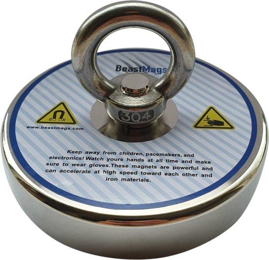 Magneetvissen - Vismagneet - 140 kg - Kleine krachtige zoekmagneet - Metaaldetector