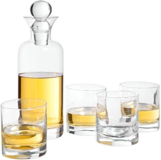 Cosy&Trendy Whiskeyset - Karaf met 4 glazen