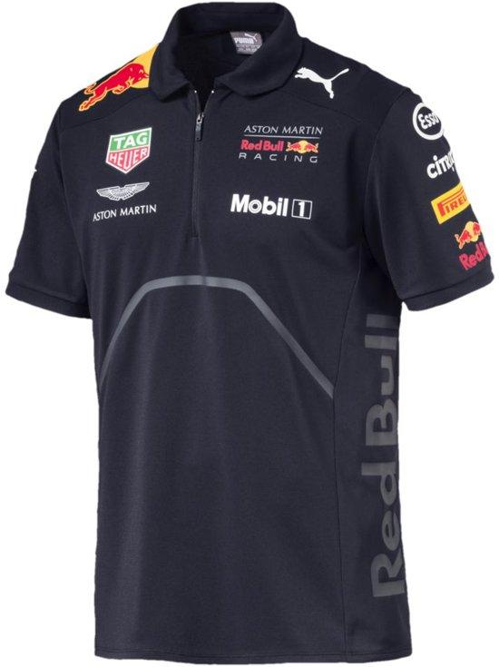 PUMA Aston Martin Red Bull Racing Team Polo Heren - Night Sky - S