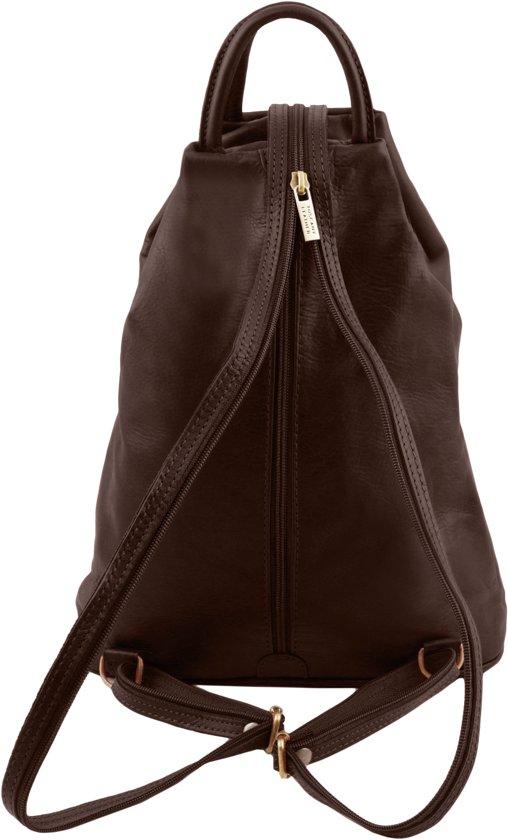Bruin Donker Lederen Dames Shanghai Tl140963 Rugzak Leather Handtas Tuscany Moderne qf6UwRx