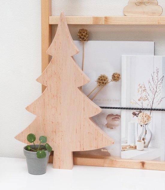 Scandinavische Houten Kerstboom Decoratie - 40cm hoog