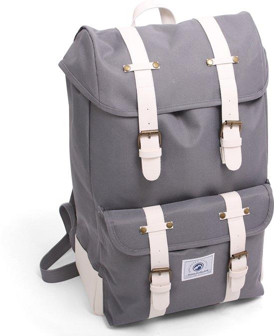1a637c86d02 bol.com | Dunga 8158 Vintage Backpack Deluxe Rugzak - Grijs