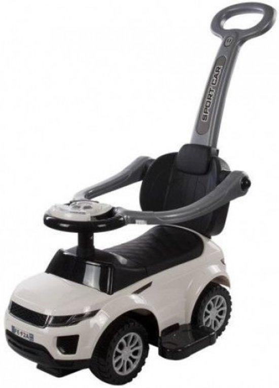 Bol Com Sport Loopauto Wit Met Duwstang Babymix Speelgoed