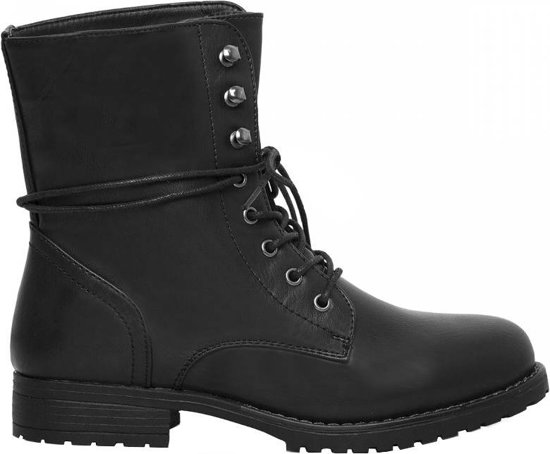 Stoere zwarte biker boots laarzen