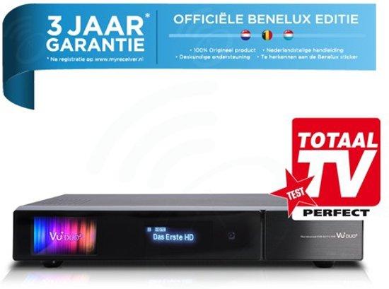 VU+ DUO2 met 1x DVB-S2 tuner + 1x DVB-C/T tuner