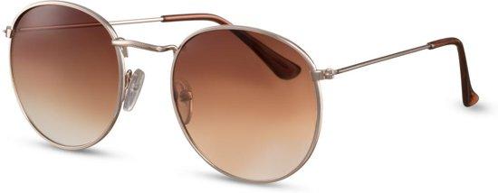 8c5878585b2f50 Cheapass Zonnebrillen - Ronde zonnebril - Goedkope zonnebril - Bruin