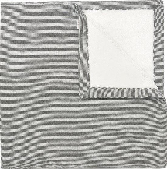 Noppies Deken Noto 120x120 cm - Dark grey melange - Maat 120x120 cm