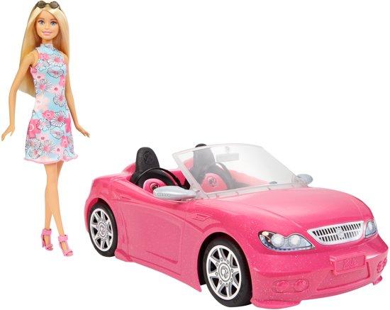 Barbie Auto met Barbiepop