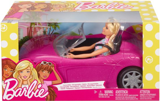 Barbie Auto met Barbiepop