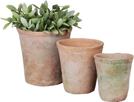 Tuin Potten Groothandel : Bol set ronde potten aged terra cotta