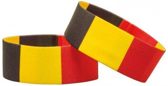 België Supporter Armband - Zwart/Geel/Rood
