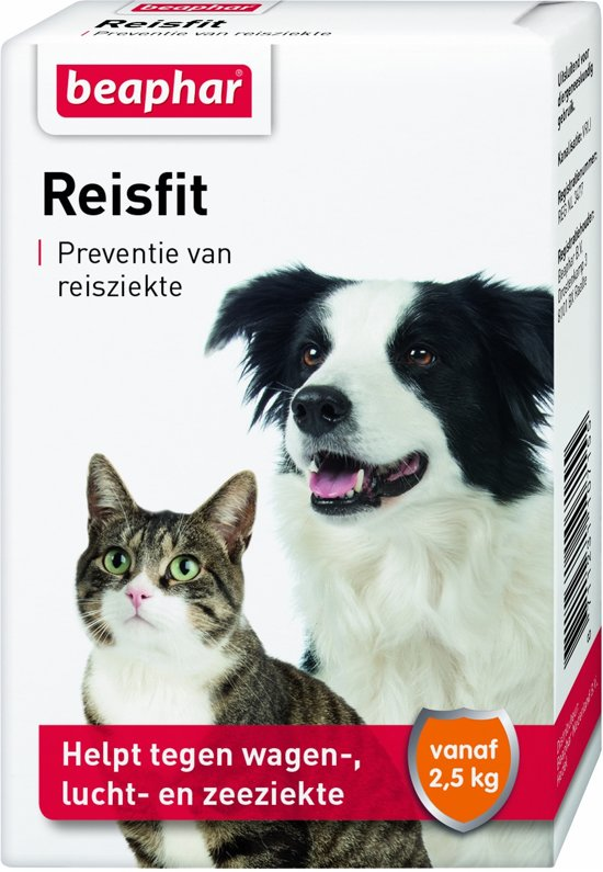 Beaphar - Reisfit - Tegen reisziekte - 10 tabletten