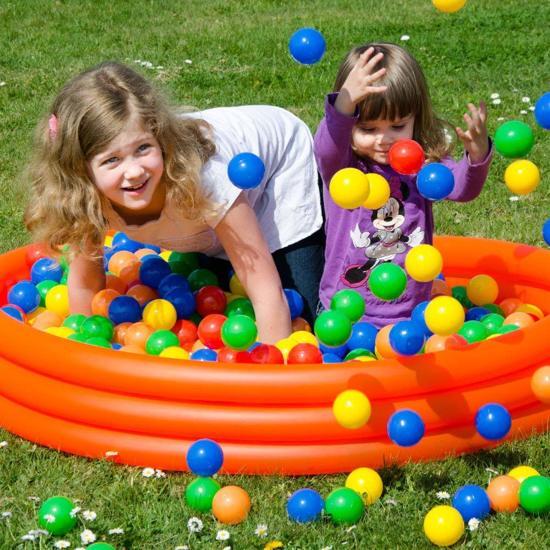 LittleTom 200 Baby Ballenbak Ballen - Ø 7cm - SGS-certificaat vanaf 0 Jaar - Multicolor Mix - gekleurde Kunststof Speelballen voor Binnen en Buiten