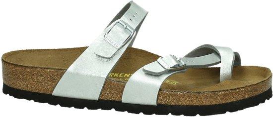 Birkenstock Mayari - Slippers - Dames - Maat 36 - Zilver