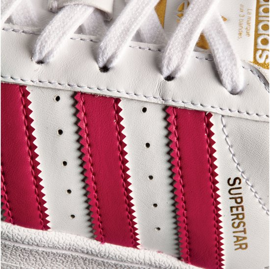 36 Superstar Wit Adidas roze Foundationsneakers Unisex Maat dAw8ct8q