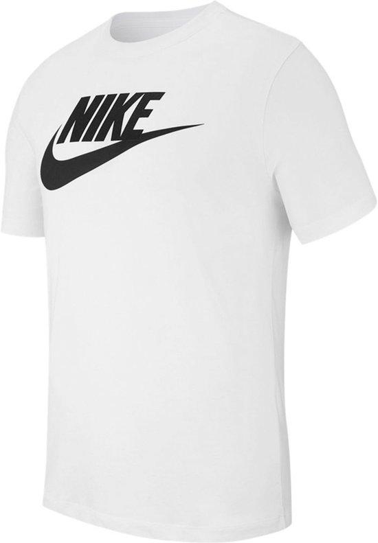 Nike Nsw Icon Futura Heren T shirt White(Black) Maat L