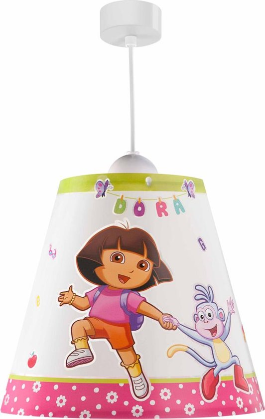 Dalber Dora - Hanglamp - Wit, Roze