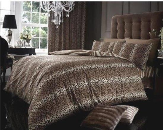 Bol luipaardprint lits jumeaux dekbedovertrek luipaarden dekbed