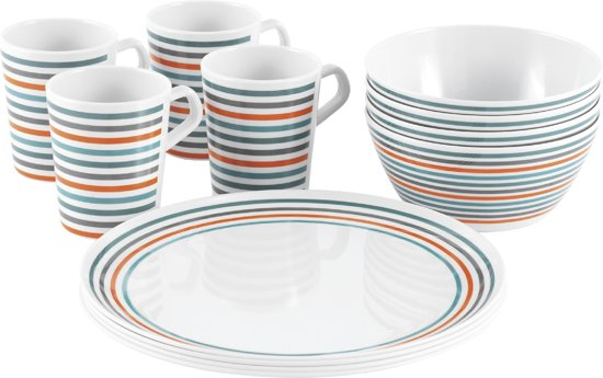Campingservies melamine