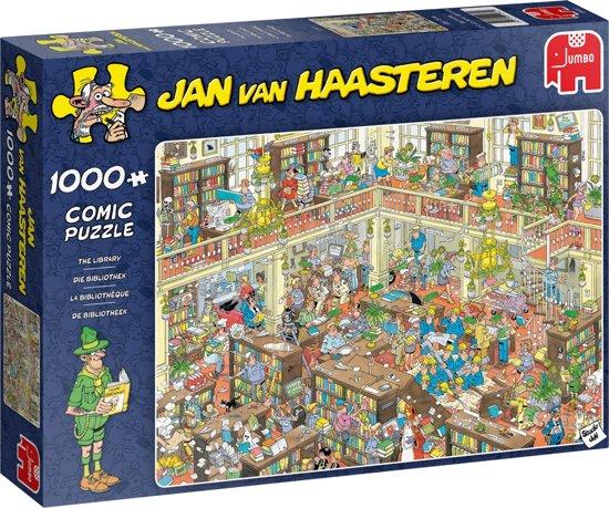 Afbeelding van Jan van Haasteren De Bibliotheek Puzzel 1000 Stukjes speelgoed