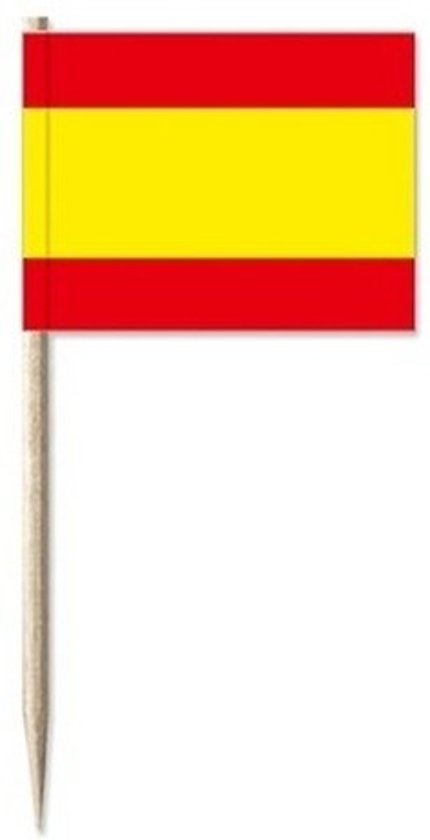 Cocktailprikkers Spanje 50 stuks