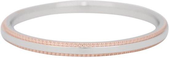 iXXXi Jewelry Vulring 2mm Double Gear Rosegoudkleurig en Zilverkleurig - maat 21