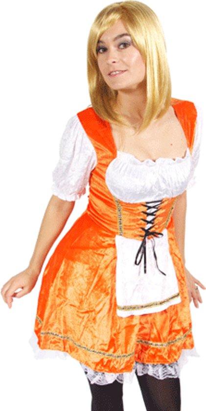 Oranje serveerster jurkje M