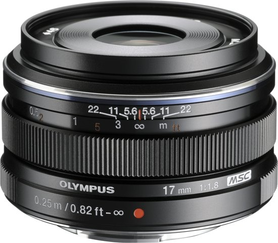 Olympus M.Zuiko Digital ED 17mm f/1.8 zwart