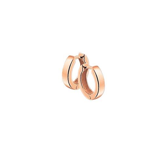 The Jewelry Collection klap-oorringen 3,0 mm Vlak - Roségoud (14 Krt.)