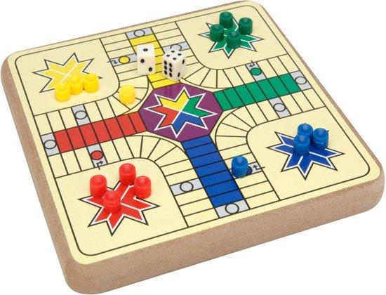 Afbeelding van het spel Houten mini -gezelschapsspel 2 in 1 20 x20 cm