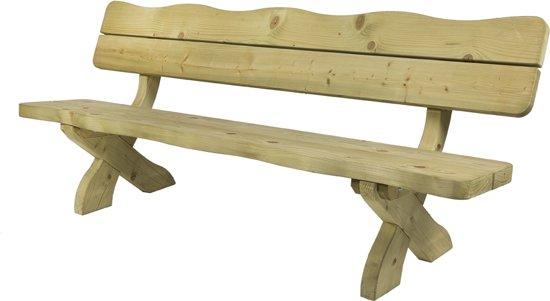 MaximaVida houten tuinbank landelijke stijl 240 cm- 60 mm houtdikte
