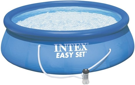 Intex Easy Set Opblaaszwembad Met Filterpomp 305 Cm Blauw