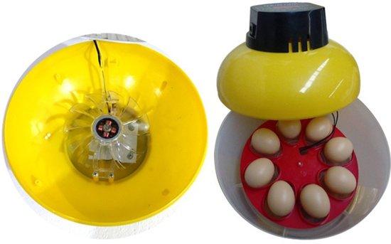 Broedmachine voor 8 eieren met keersysteem, temperatuur en vochtmeter. DiekoWQ8+