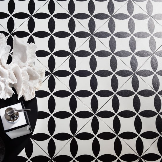 JYG Vloerkleed - Keukenloper Retrolux Grimbergen 150x200 - Zwart-Wit