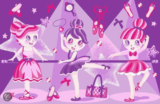 Associated Weavers Vloerkleed - Girls Ballerinas - 120x120cm