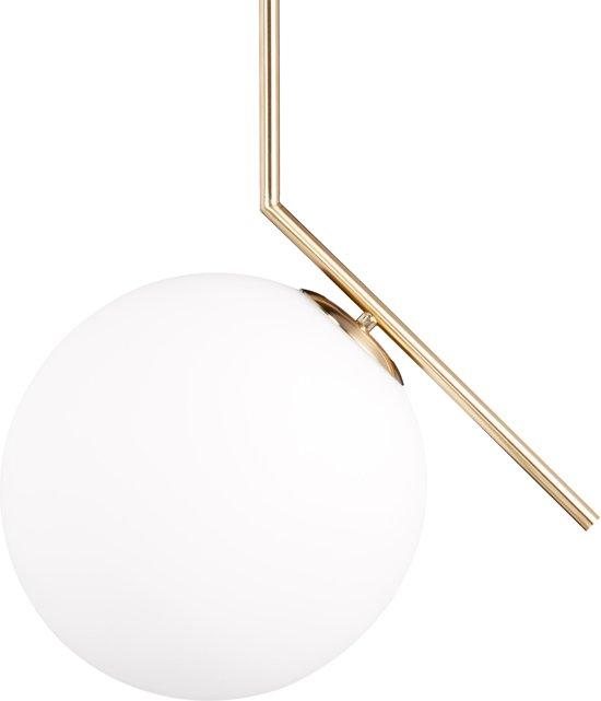Uitzonderlijk bol.com   relaxdays hanglamp messing, mat, glas, kogel, glazen kap &ZI76
