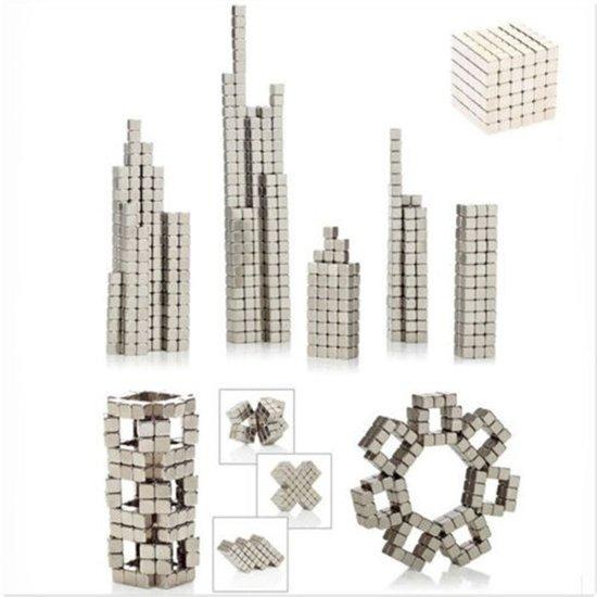 Thumbnail van een extra afbeelding van het spel 216 kleine vierkante sterke magneten in blikje - Buckyballs - Neocubes zilver