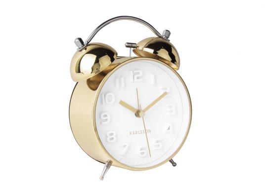 Alarm clock Mr. White - Brushed Gold Case