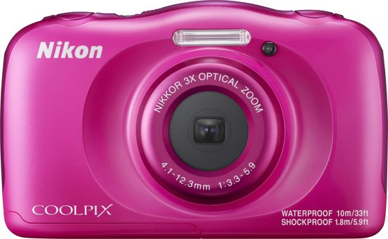 Nikon Coolpix W100 Roze - Camera met rugzak